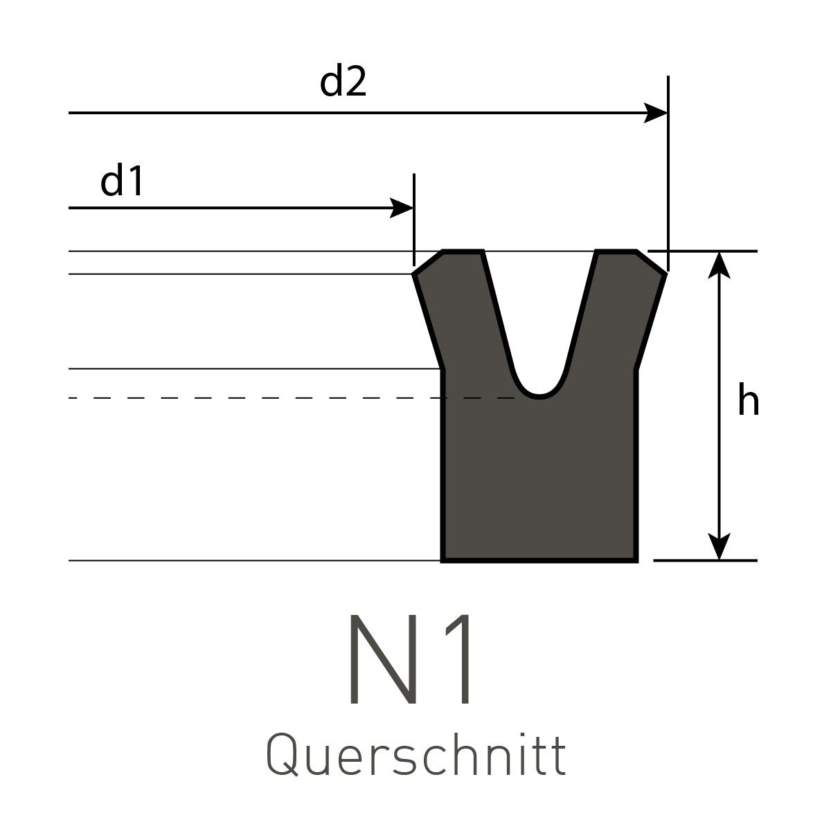 6 x 12 x 8 mm Kolbendichtung Stangendichtung Nutringe Nutring Symmetrisch PU