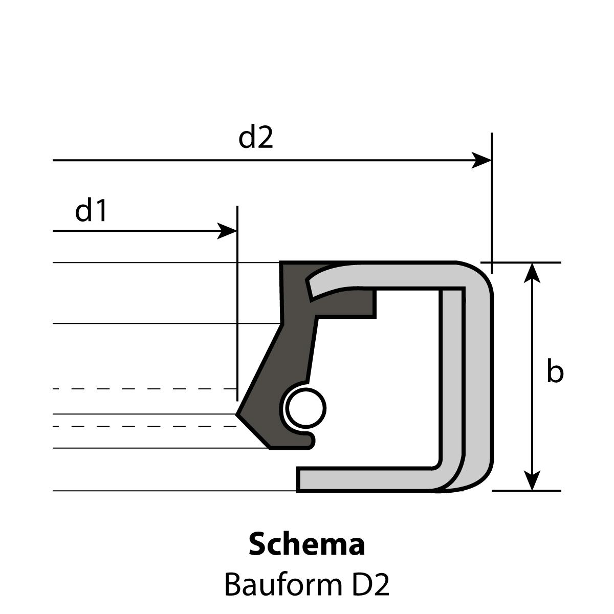 50 Radial-Wellendichtringe 58 x 80 x 13 mm D2 NBR 70