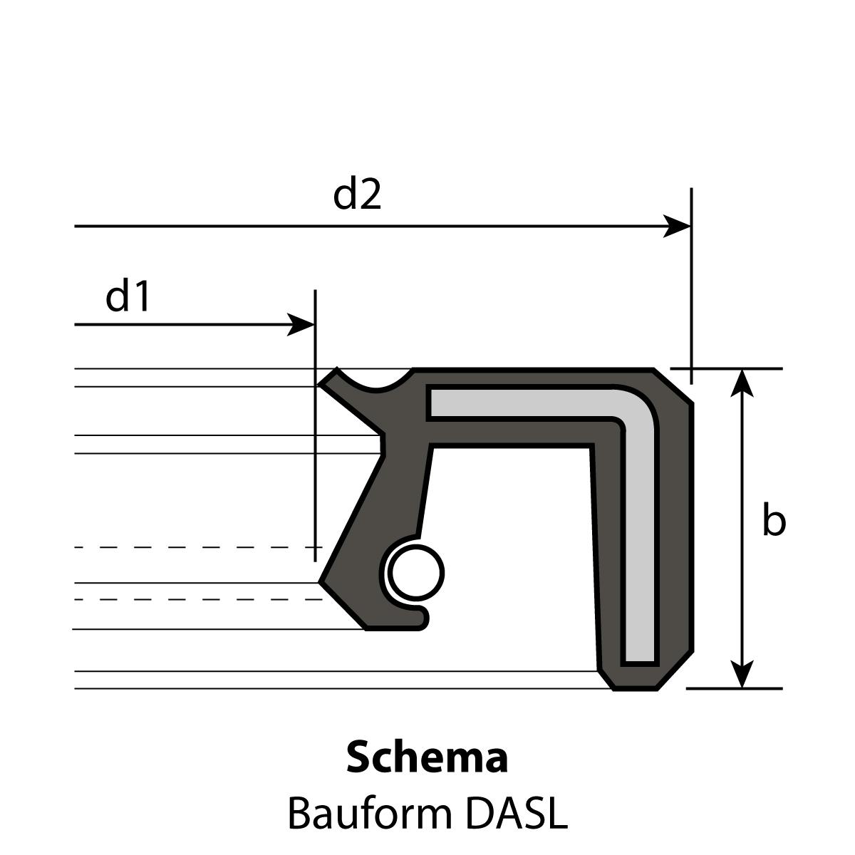 1 Radial-Wellendichtring 28 x 52 x 7 mm DASL NBR 70